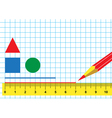 Ruler and pencil vector image vector image
