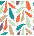 Seamless background vintage colored feathers vector image