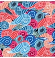 Seamless graphic pattern of waves vector image vector image