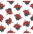 seamless pattern of rowan spray old traditional vector image