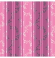 seamless pattern with twig magnolia vector image