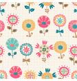 seamless summer flower pattern vector image