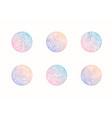set of abstract wavy minimal organic logos vector image