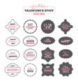 set valentines day vintage labels vector image