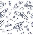 space seamless pattern print design doodle design vector image