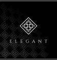 square elegant luxury flower line pattern logo vector image vector image