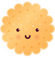 sweet cute round tasty cookie vector image