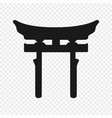 symbol shinto isolated vector image