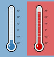 thermometer cold and heat vector image vector image
