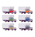 truck set in bright colors vector image vector image
