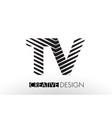 tv t v lines letter design with creative elegant vector image vector image