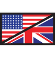 usa uk flag unity1 vector image