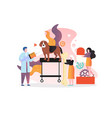 veterinarian concept for web banner vector image vector image