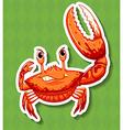 Wild crab with big claw vector image vector image