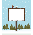 winter sign post vector image vector image