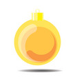 yellow christmas ball vector image