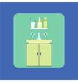 Bathroom interior icon Washbasin Soap shower gel vector image vector image