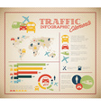 Big set of Traffic Infographic elements vector image