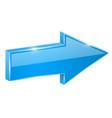 blue shiny arrow next 3d vector image