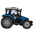 Blue tractor vector image vector image