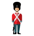 British guardsman Flat style colorful vector image
