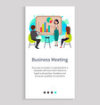 business meeting company employees in office vector image vector image