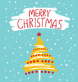 christmas card with text vector image vector image