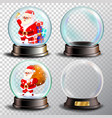 christmas snowglobe set empty snow globe vector image