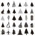 christmas tree icon set vector image