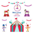 circus set on white background vector image