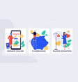 crowdfunding initiatives charity colorful vector image