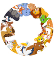 Cute animals around globe vector image