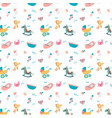 cute doodle baby toy stuff pattern seamless vector image