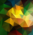 dark colored abstract polygon triangular pattern vector image vector image