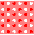Design seamless twirl stripy heart pattern vector image vector image