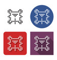 dotted icon billiards in four variants table vector image vector image