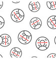 face scan icon seamless pattern background facial vector image