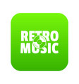 festival retro music icon green vector image vector image