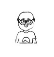 figure avatar man with t-shirt design vector image