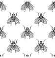 fly insects seamless pattern vector image vector image