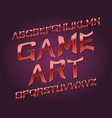 game art typeface golden red font isolated vector image vector image