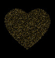 golden confetti heart valentines day card on vector image