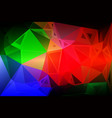 green blue orange red random sizes low poly vector image vector image