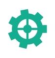 green gear wheel engine cog icon vector image vector image
