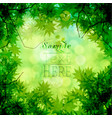 green leaves and bokeh background vector image vector image