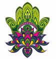 hamsa with ethnic ornaments vector image vector image