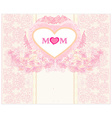 Happy Mothers Day - Lovely Greeting Card vector image