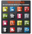 hotel service icon set vector image vector image