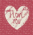 i love you hand draw card vector image vector image