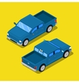 Isometric Offroad Pick-up Car in Retro Style vector image